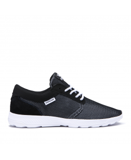 Chaussures SUPRA HAMMER RUN black emboss white_08128-007-M front