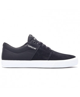 Chaussures SUPRA STACKS VULC II black white_58193-002-M front