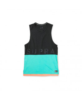 Debardeur SUPRA COLOR BLOCK TANK II black electric blush_102176-027 front