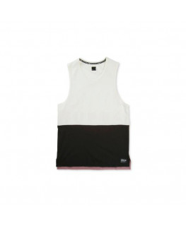 Debardeur SUPRA COLOR BLOCK TANK II bone black mauve_102176-217 front