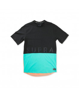 Tee shirt SUPRA COLOR BLOCKSSCREWII black electric blush_102175-027 front