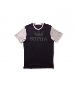 tee shirt supra above premium pckt t black grey heather 103780-030