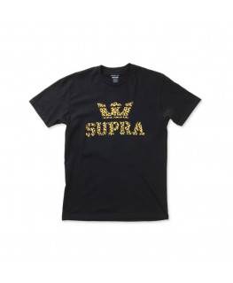 Tee shirt SUPRA ABOVE REGULAR SS TEE black leopard_103437-045 front