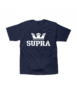 Tee shirt SUPRA ABOVE REGULAR SS TEE navy white_103437-406