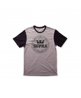 tee shirt supra geo premium tee grey heather black 103790-035